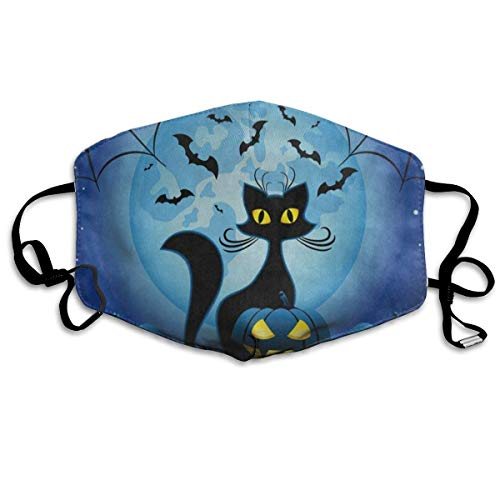 Custom Mouth Mask Anti-Dust Halloween Kitten Face Mask Breathable Mask With Adjustable Ear-loop Windproof And Warm]()