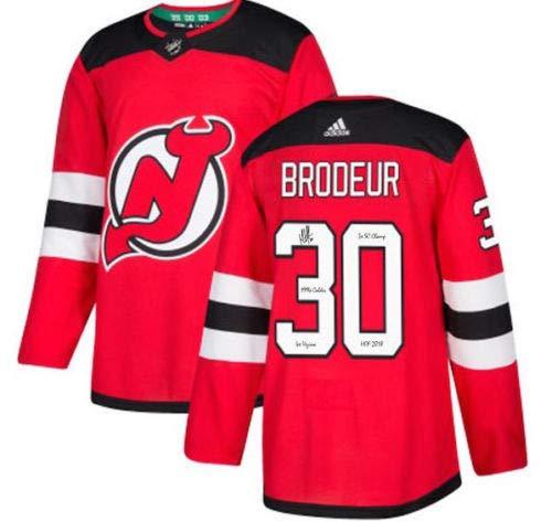 """MARTIN BRODEUR Autographed""""HOF 18"""" Devils Authentic Jersey FANATICS LE 30"""