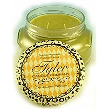 Frosted Pomegranate Scented Candle Tyler Candles 22 Ounce Candle