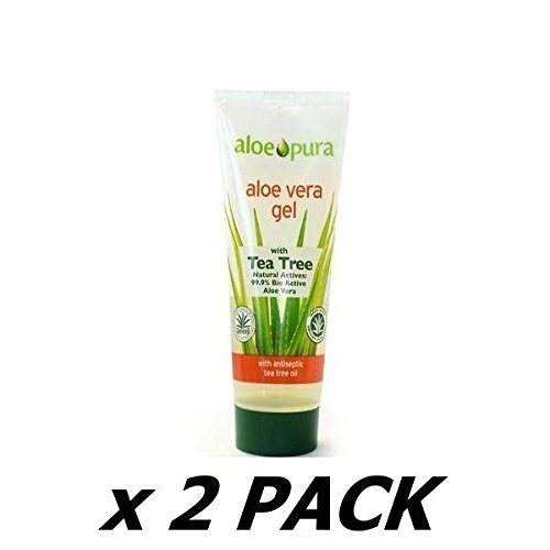 ALOE PURA Organic Aloe Vera Gel with Tea Tree 200ml