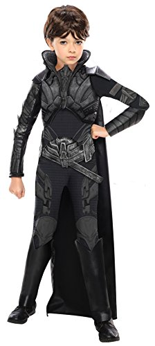 Rubie's Girl's Superman Faora Deluxe Fancy Dress Child Outfit Halloween Costume, Child M (8-10) Black -