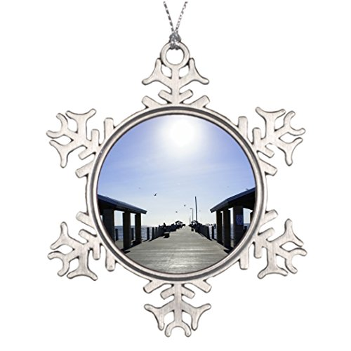 Ai Vion Personalised Christmas Tree Decoration Fishing at the Pier Funny Snowflake Ornaments