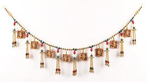 Itiha Multicolour Two Sided Ganesha on Swastik with Om Door Hanging Toran/Door Hanging/Window Valance Diwali Gift Door Valance (2 feet)