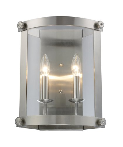 Chesapeake 2 Light Sconce (Elk 66270-2 Chesapeake 2-Light Sconce, 13-Inch, Satin Nickel)