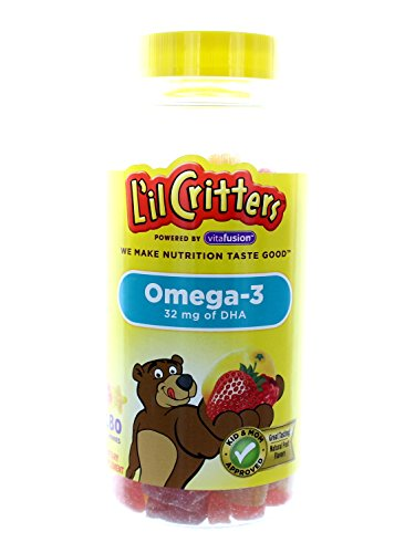 Omega 3 Gummies - Lil Critters Omega-3 Gummy Fish With Dha-180 Fish