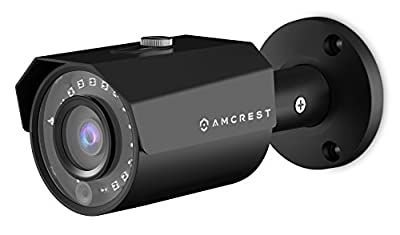 Amcrest 4MP POE IP Camera UltraHD Outdoor Security Camera Bullet - IP67 Weatherproof, 4-Megapixel (2688 TVL), 98ft Night Vision, Surveillance Camera, IP4M-1024E (Black) by Amcrest
