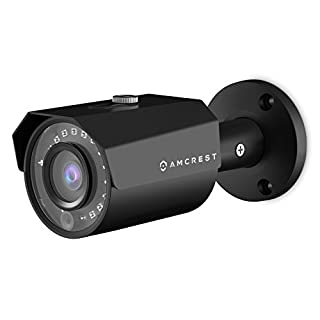 Amcrest ProHD Outdoor 1080P POE Bullet IP Security Camera - IP67 Weatherproof, 1080P (1920 TVL), IP2M-843EB (Black)