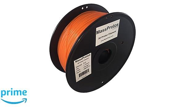 Amazon.com: MassProtos PLA-175-O 3D Printer Filament, PLA, 1.75 mm,, +/- 0.05 mm, Orange: Industrial & Scientific
