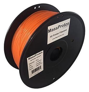 MassProtos PLA-175-O 3D Printer Filament, PLA, 1.75 mm,,