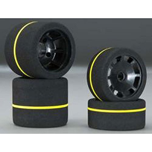 Johns Bsr Racing 1/10 Spec Combo Tires (4) White Gray, BXRF4004
