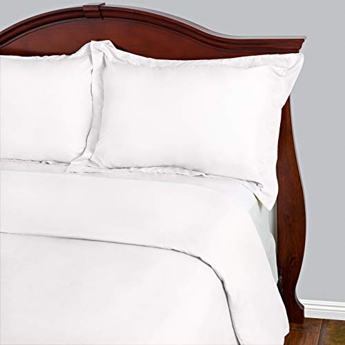 Cosy House Collection Duvet Cover Set - 1500 Series Ultra Soft Hypoallergenic Luxury Hotel Quality Bedding - Protects Comforters & Duvets Inserts - Includes 2 Pillow Shams (King/Cal King, White) -