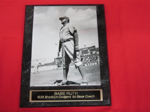 Babe Ruth Brooklyn Dodgers Engraved Collector Plaque #1 w/8x10 RARE -