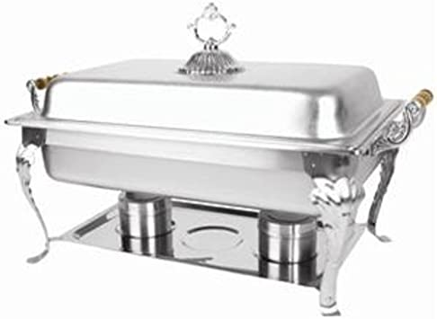 Winco Crown Collection Chafing Dish Designed For Formal Occasions 8 Qt Full Size With Dome Cover Oblong Kitchen Dining