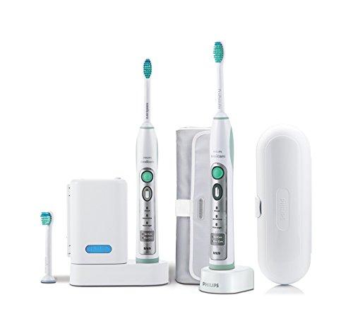 Philips Sonicare HX6932/34 FlexCare Elektrische Zahnbürste mit Schalltechnologie, weiß/grün, Doppelpack