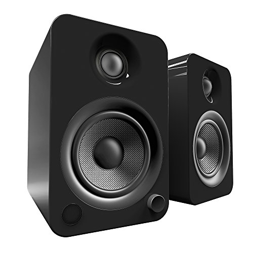 "Kanto 4"" Wireless 2-Way Bookshelf Speakers (Pair) Gloss black YU4GB"