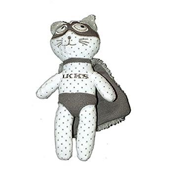 Doudou Chat Gris IKKS Super Héro 20 cm: Amazon.es: Bebé