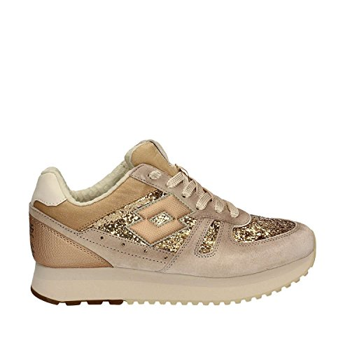 Lotto S8910 Sport Shoes Women Beige Almond/Bronze Metal