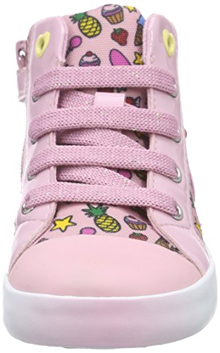 Geox B Kiwi Girl F, Zapatos Primeros Pasos para Bebés Rosa (Pink / Multicolor C8206)