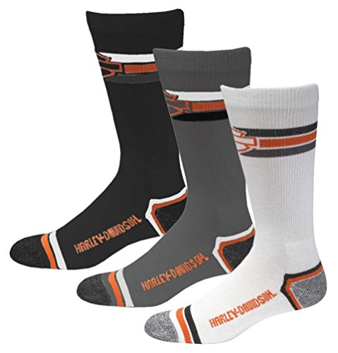 Harley-Davidson Wolverine Men's 3 Pack Retro Rider Wicking Socks D99218870-990 from HARLEY-DAVIDSON