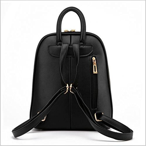 Fashion Black Rucksack Bag Backpack YAANCUN Womens Leather PU Travel Bag Shoulder qEwRppnHxg