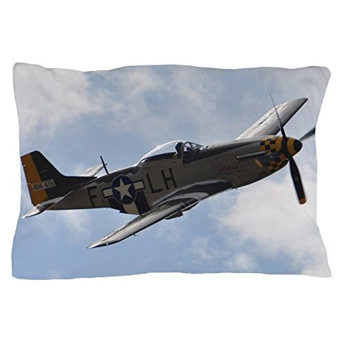 "CafePress P-51D Mustang Standard Size Pillow Case, 20""x30"" Pillow Cover, Unique Pillow Slip"
