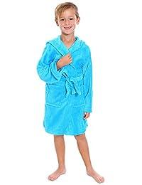AshopZ Kid's Winter Cozy Hoodie Warm Bathrobe with Single Belt