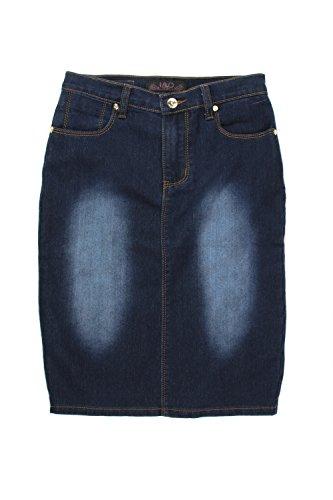 Denim 5 Pocket Skirt - 8