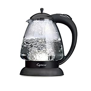 Capresso H2O Glass Water Kettle  48-Ounce, I like that you have a clear view of the water