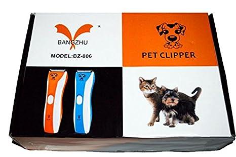 Bangzhu BZ-806 ® Kit de Cortapelos para Perros Gatos Mascotas Cortadora eléctrica Recargablede: Amazon.es: Belleza