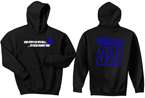 JUST RIDE Quad Hoodie Sweat Shirt ATV Racing Requires Balls (Large, NEON Blue)