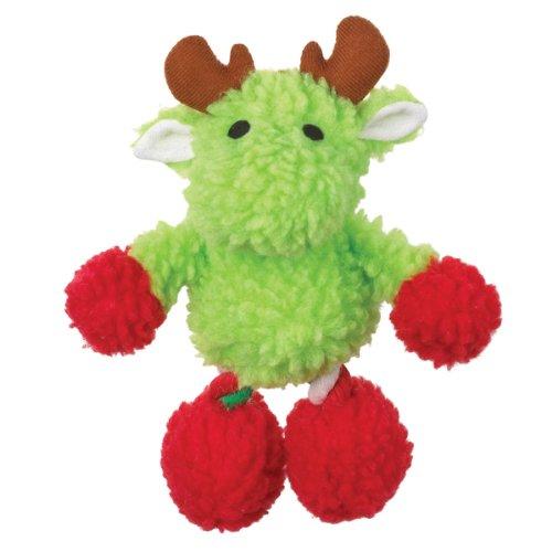Grriggles Berber/Cotton Rope Mistletoe Moose Dog Toy, 7-Inch, Green, My Pet Supplies
