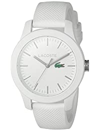 Lacoste Women's 12.12-Feet Quartz Resin and Silicone Automatic Watch, Color: White (Model: 2000954)