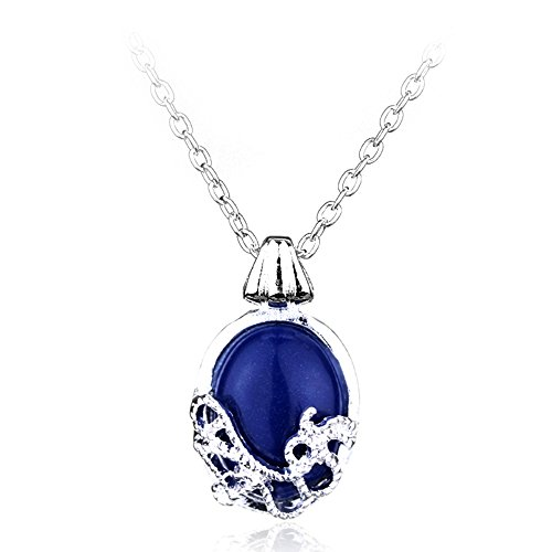 Magical Jewelry Gift Co. Katherine Pierce Pendant Charm Chain Cosplay Necklace - Blue/Silver