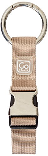 Metal Travel Jacket (Design Go Go Travel Carry Clip Beige, Brown, One)