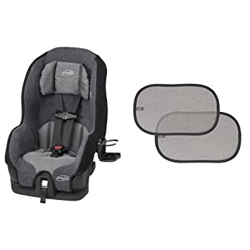 Evenflo Tribute LX Convertible Car Seat Saturn With 2 Piece Window Cling Shades