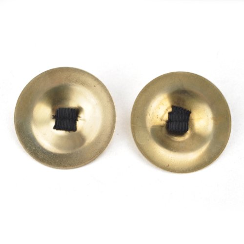 BellyLady Belly Dance Gold Plain Brass Zill Finger Cymbals, 1 Pair, Gift Idea
