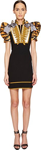 DSQUARED2 Women's Tiger Puff Short Sleeves Mini Dress Black (Dsquared2 Womens Clothing)
