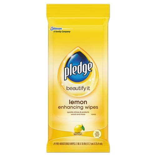 Pledge Lemon Scent Wet Wipes, 24 Wipes (SJN624489PK)