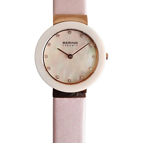 BERING Time 11429-664 Womens Ceramic Collection Watch with Satin Band and scratch resistant sapphire crystal. Designed in Denmark.