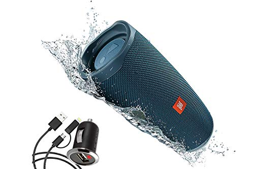 JBL Charge 4 Waterproof Portable Bluetooth Speaker for Android and IOS - Frustration Free Packaging- Blue
