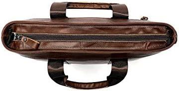 TOLYMOMO ビジネスバッグ 本革 メンズ 手提げバッグ 斜め掛け ショルダー 肩掛け 2WAY 14インチPC収納 通勤