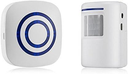 [해외]GZCRDZ Wireless Driveway Alert: Infrared Motion Sensor Door Bell Alarm Chime1 Receiver and 1 Sensor -38 Chime Tunes - LED Indicators (White) / GZCRDZ Wireless Driveway Alert: Infrared Motion Sensor Door Bell Alarm Chime1 Receiver a...