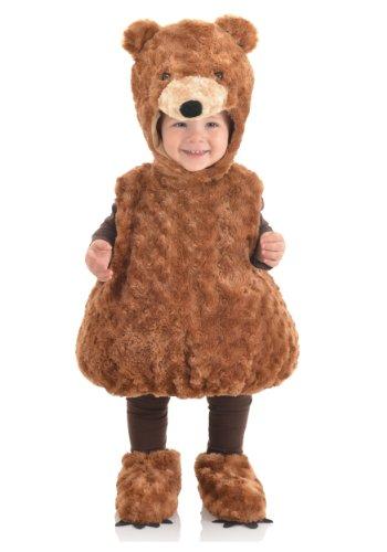 Underwraps Baby's Teddy Bear Belly, Brown, X-Large