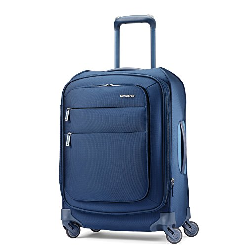 Samsonite Expandable Spinners - Samsonite Flexis Expandable Softside Carry On Luggage with Spinner Wheels, 20 Inch, Carbon Blue
