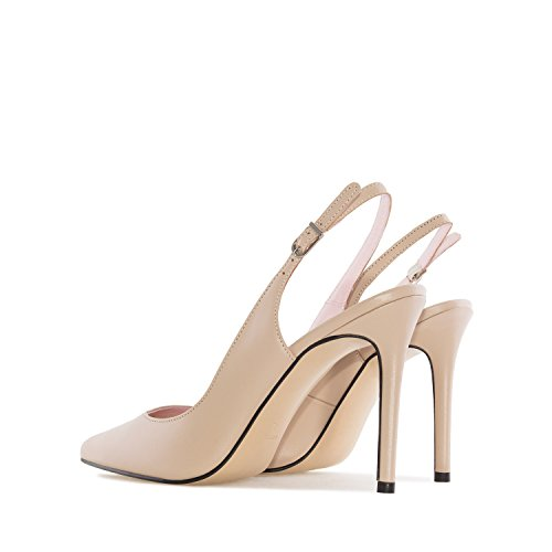 In Punta made Spagna Slingback Sizes A Pelle Andres Beige fine petite Scarpe Grandi Leather In Machado E daniela ZAW4zxz0F
