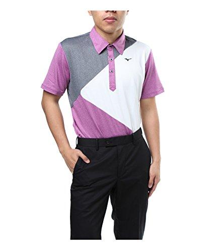 ミズノ ゴルフウェア ポロシャツ 半袖 エンブレム 52JA8051 67 M