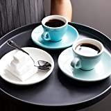 Sweese Porcelain Espresso Cups with Saucers - Set