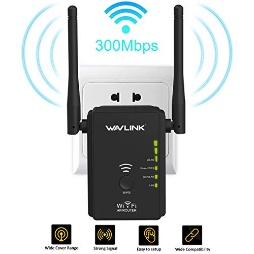 WiFi Range Extender- 2.4GHz Wireless Repeater 300Mbps High Speed Internet Signal Booster with WPS-WiFi Signal Amplifier with High Gain Dual Antenna/Ethernet Ports for Covering Whole Smart Home