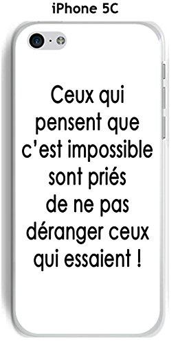 Cover Apple iPhone 5C Design citazione Quelli Che Pensano testo nero Sfondo Bianco