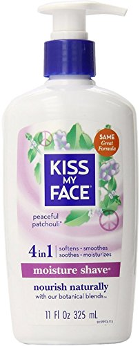 Kiss My Face Moisture Shave, Peaceful Patchouli 11 oz (Pack of 7) by Kiss My Face